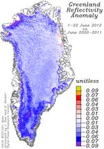 Greenland_reflectivity_anomaly_1-22June_2012_vs_June_2000-2011