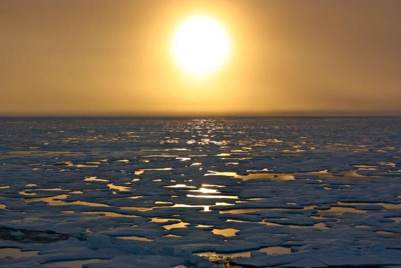 Nasa-icescape-sea-ice-sunset