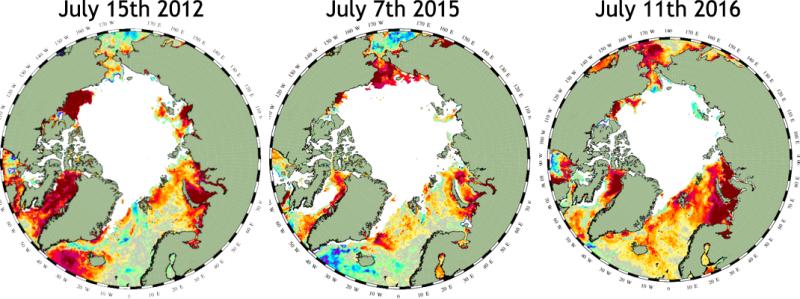 DMI SSTA July 2012 2015 2016
