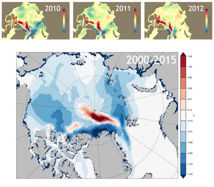 Sea ice volume distribution Nov
