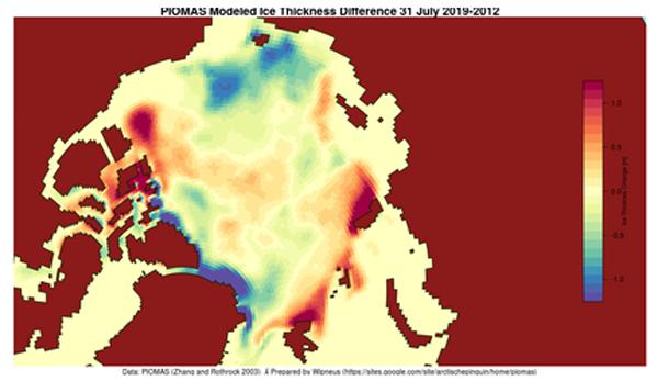 PIOMAS 2019-2012